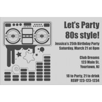 80s Retro Boombox Invitation