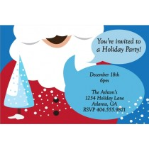 Santa's Beard Christmas Holiday Party Invitation