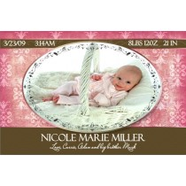Newborn Baby Birth Announcement 4 (pink)