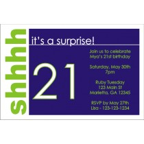 Surprise Party Invitation (Blue)
