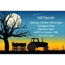 Fall Autumn Hayride Invitation 2
