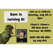 Dinosaur Photo Invitation - ALL COLORS