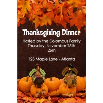 Two Turkeys Thanksgiving Dinner Invitation