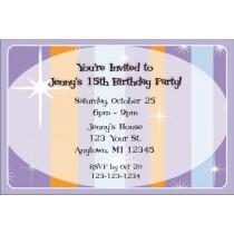 Retro Purple Invitations