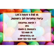 Ball Pit Invitation