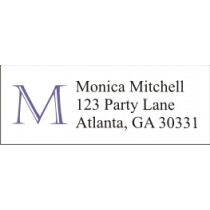 Monogram Return Address Labels - Choose Your Color