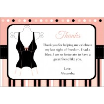 Lingerie Bridal Shower Bachelorette Party Thank You Card 3