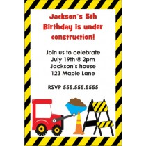 Dump Truck Under Construction Invitation