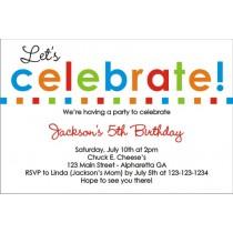 Let's Celebrate Birthday Invitation