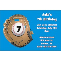Baseball Glove Invitation