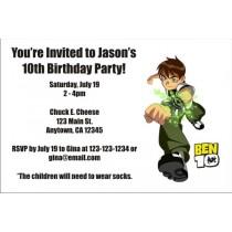 Ben 10 Invitations 3
