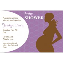 Mod Momma Baby Shower Invitation - Purple