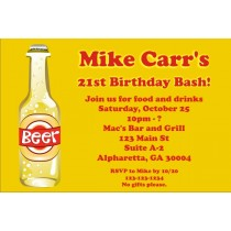 Beer Invitations - Great for 21st Birthday