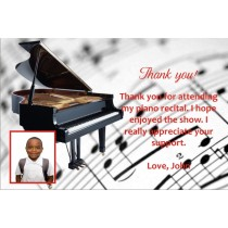 Piano Recital Thank You Card