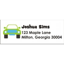 Monster Truck Return Address Labels - Blue Green