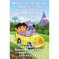 Dora the Explorer Invitations 2