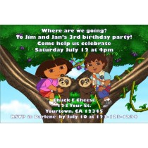 Dora and Diego Invitations