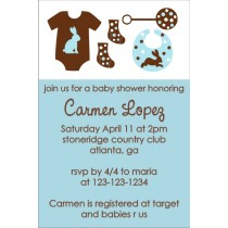 Mod Baby Elements Invitation (Blue)
