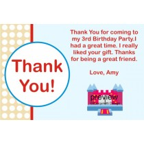 Bounce House Thank You Card 2