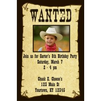 Wanted Poster Invitation