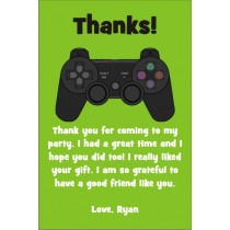 Playstation Xbox Video Game Thank You Card