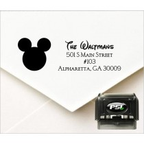 Mickey Mouse personalized return address stamp