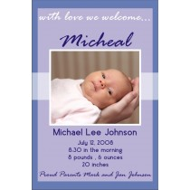 Newborn Baby Birth Announcement 2 (blue)