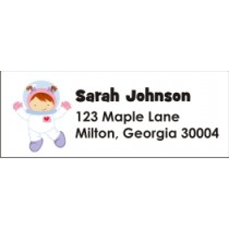 Astronaut Space Boy or Girl Return Address Labels