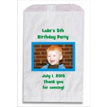 Photo Personalized Party Favor Bags 10 count - Select Colors
