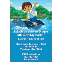 Go Diego Go! Invitations- Water Turtle