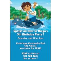 Go Diego Go! Invitations- Water Turtle