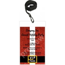 santa christmas holiday vip pass invitation lanyard