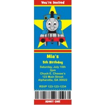 Thomas the Tank Engine Train Ticket Style Invitations