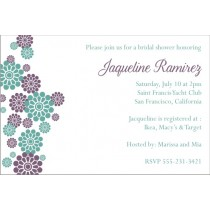 Modern Flowers Invitation - Bridal Shower
