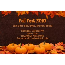 Fall Pumpkins Thanksgiving Invitation
