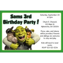 Shrek Invitations