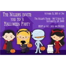 Spooky Kids in Costume Halloween Party Invitation