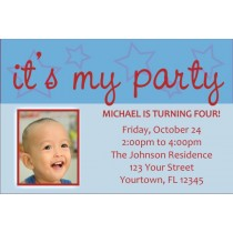 It's My Party Invitations (Blue)
