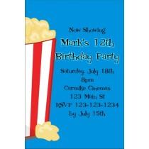 Movie Popcorn Invitation - ALL COLORS