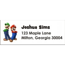 Super Mario Brothers Mario & Luigi Return Address Labels