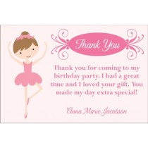 Pretty Ballerina Thank You Cards - Select a Dancer