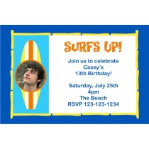 Surf Board Photo Invitation