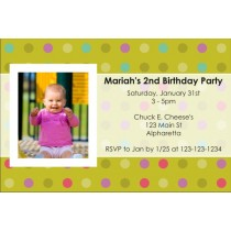 Photo Invitation 4 (Choose a background color)