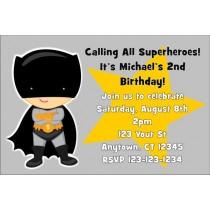 Bat Boy Superhero Invitation