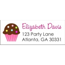 Cupcake Return Address Labels