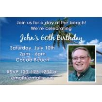 Beach Invitation with Photo