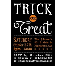 Trick or Treat Halloween Invitation