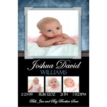 Newborn Baby Birth Announcement 5 (blue)