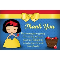 snow white thank you card