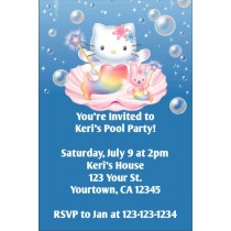 Hello Kitty Invitations - Hello Kitty Mermaid